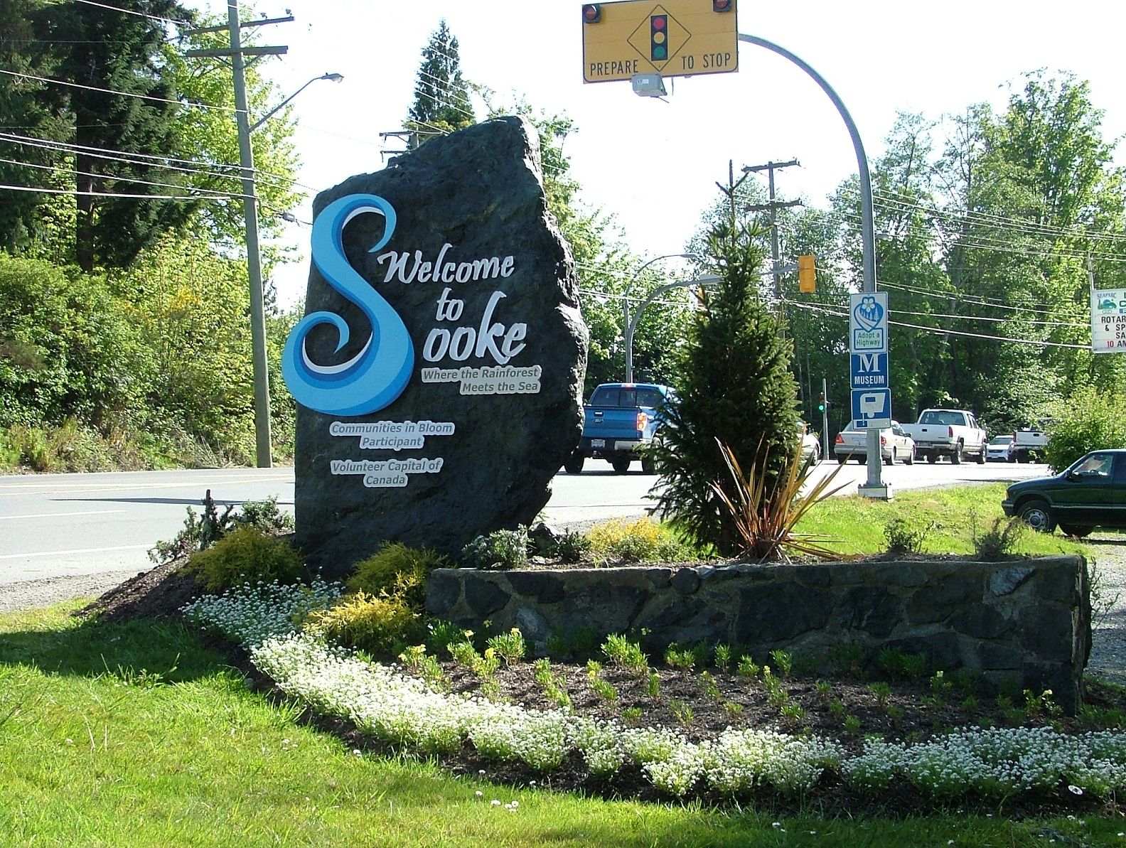 sooke bc welcome sign