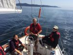 Sailing the Strait of Juan de Fuca near Sooke