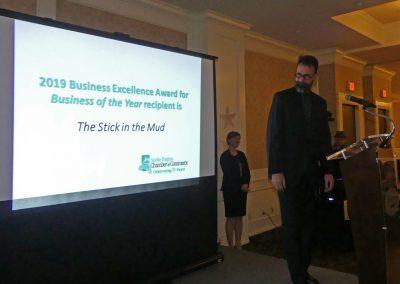Stick in the Mud Entrepreneur award